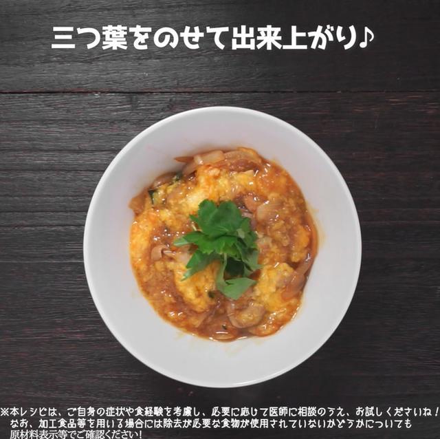 画像8: 【相模原病院管理栄養士 渡邉先生のコメントつき】卵不使用!親子丼にそっくり丼