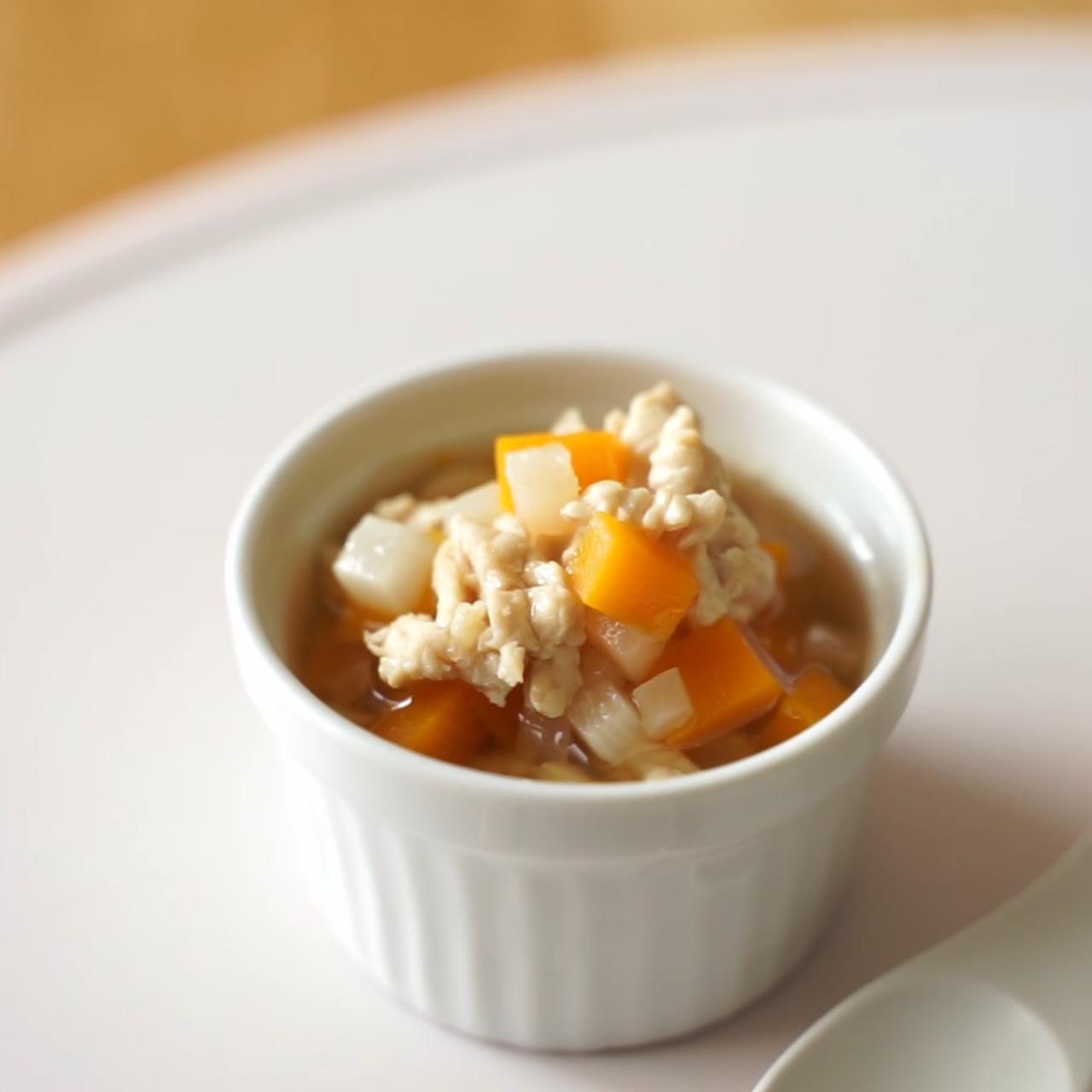 画像: 離乳食 中期レシピ!かぶとカボチャのとろとろ煮 - 君とごはん