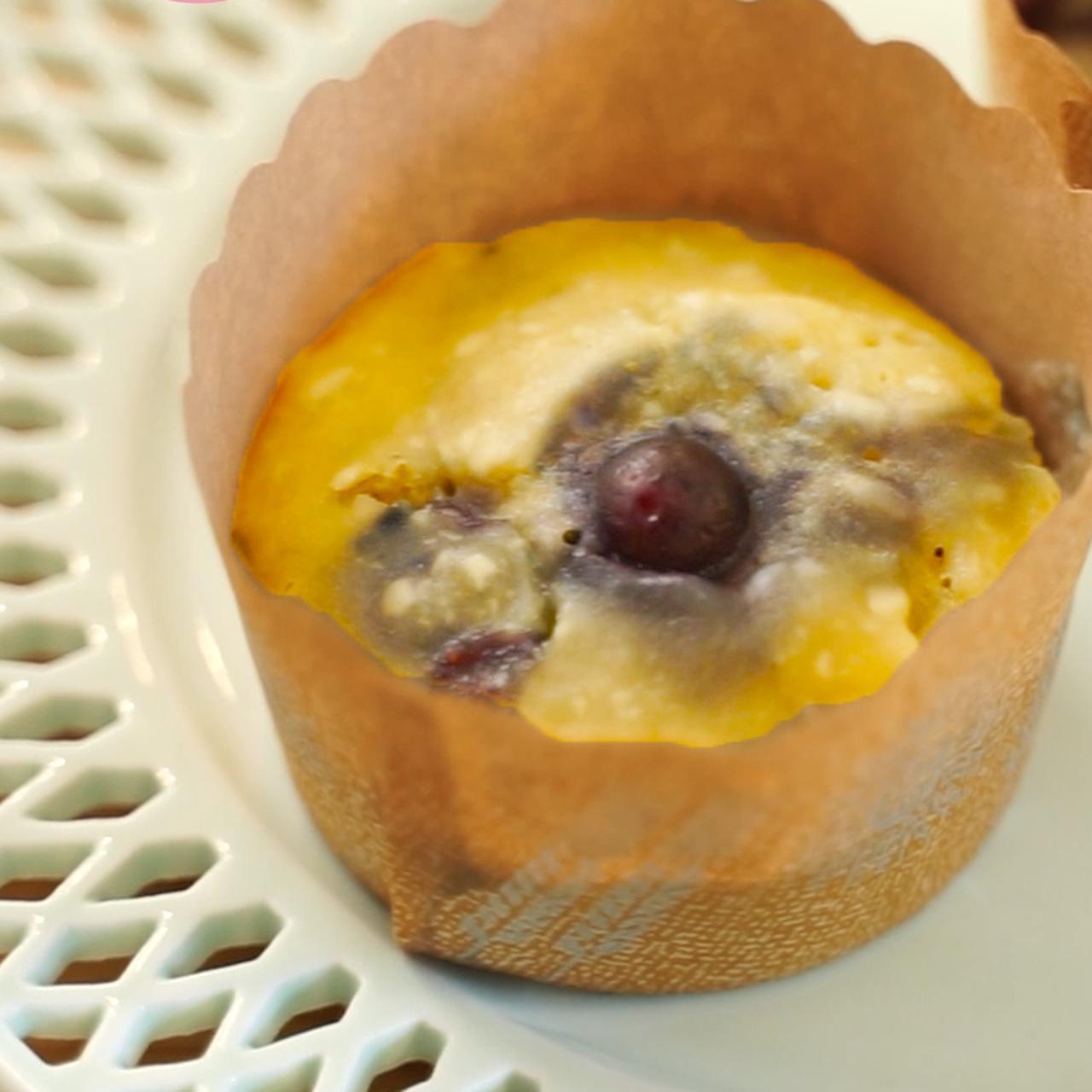 画像: 米粉で作るブルーベリー蒸しパン - 君とごはん