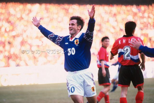 画像: 11月1日、アウェーの日韓戦に勝利し、望みをつなげた。写真は呂比須ワグナー(写真◎サッカーマガジン)