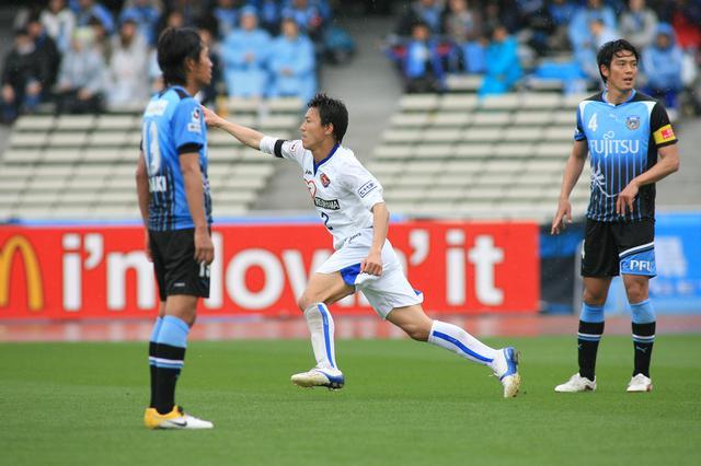 画像: 仙台は太田吉彰の同点弾に続き、試合終了まで残り3分で鎌田次郎(写真)が勝ち越しゴールを決めた再開初戦を勝利で飾った(写真◎J.LEAGUE)
