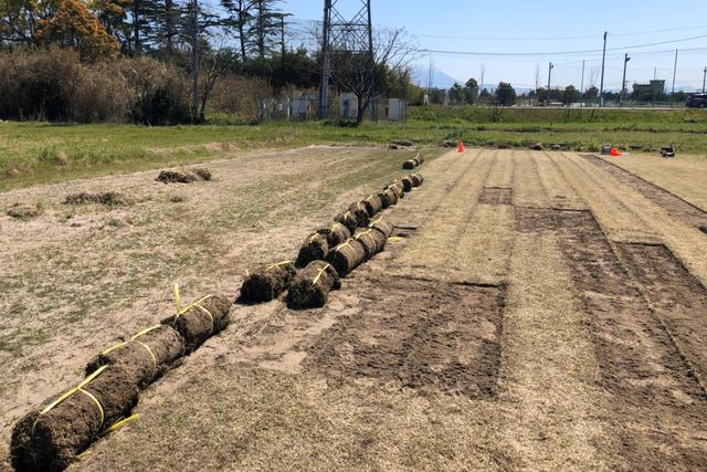 画像: チュウブYAJINスタジアムの近くにも多くある遊休農地を利用した芝生の生産。プロジェクトは4年目を迎えている(写真◎ガイナーレ鳥取)