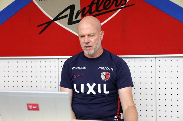 画像: オンライン取材で現状を語ったザーゴ監督。初勝利を目指す 写真◎鹿島アントラーズ