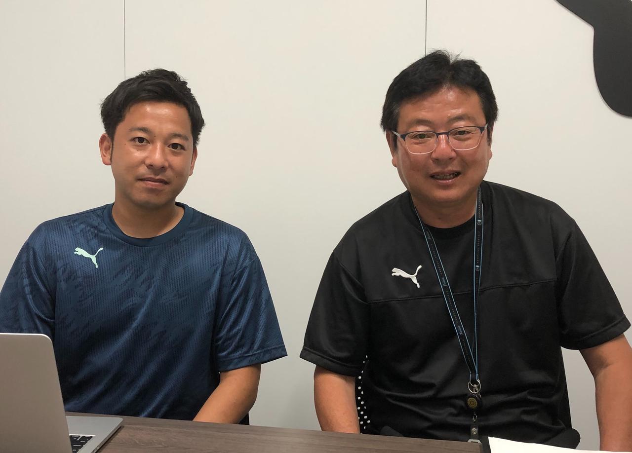 画像: 山岸繁育成部長(右)と大田和直哉スカウト担当(写真◎サッカーマガジン)