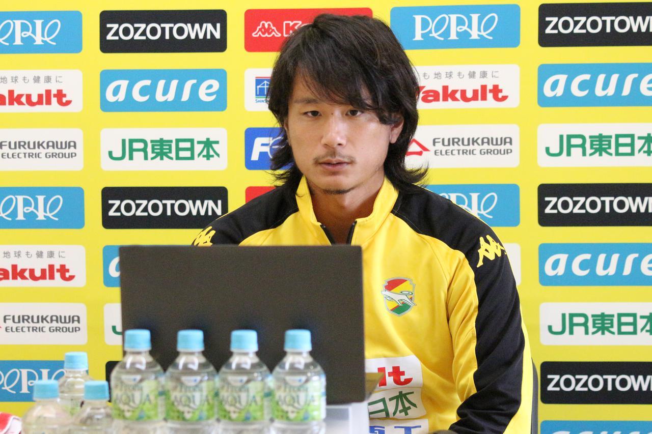 Images : 1番目の画像 - オンライン取材に応じる小島。金沢戦のポイントについて語った(写真◎JEF UNITED) - サッカーマガジンWEB
