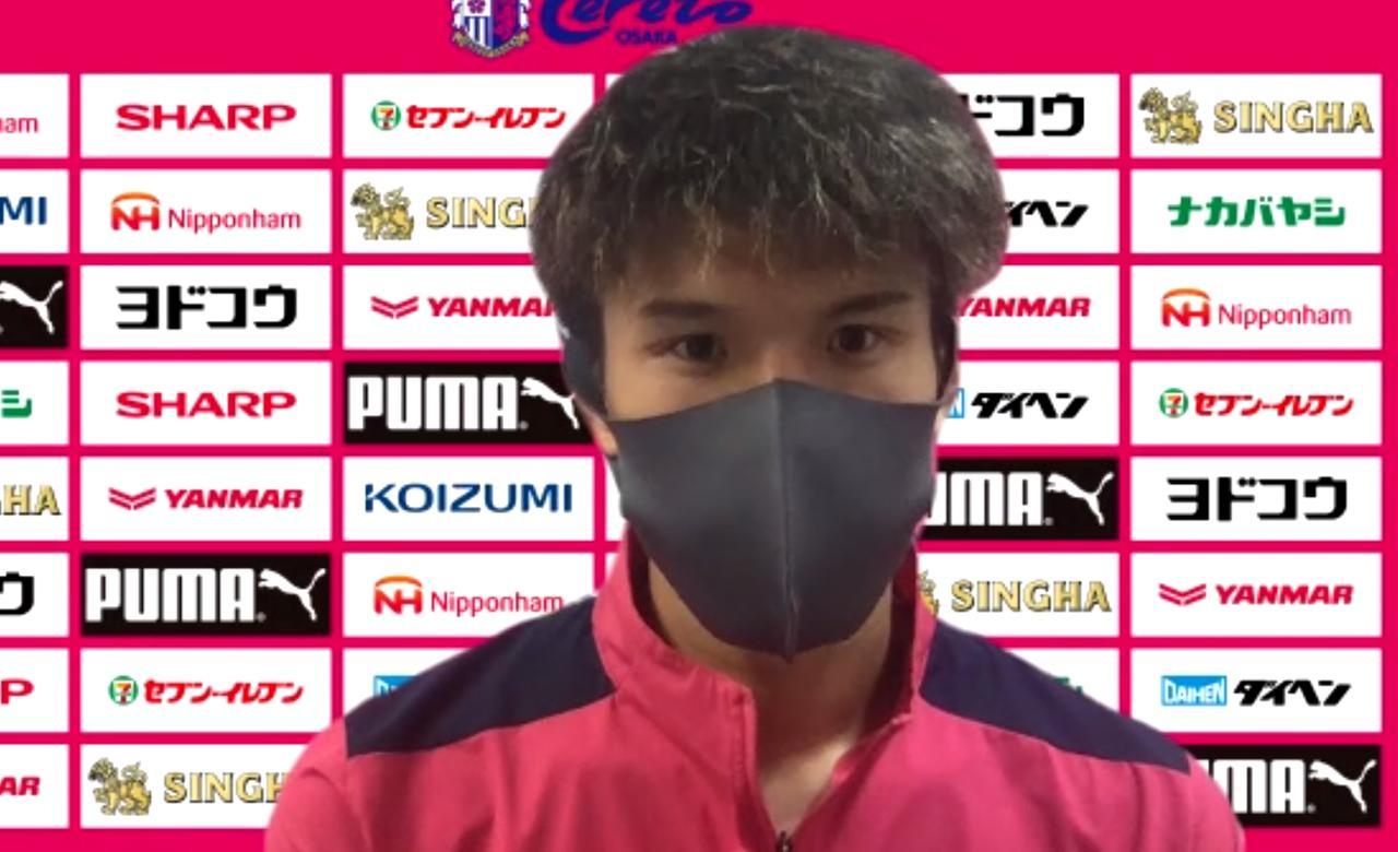 Images : 5番目の画像 - 【写真】14日の徳島戦に向けて練習を消化した加藤。得点と勝利に向けて意気込みを語った(写真◎CEREZO OSAKA、スクリーンショット) - サッカーマガジンWEB