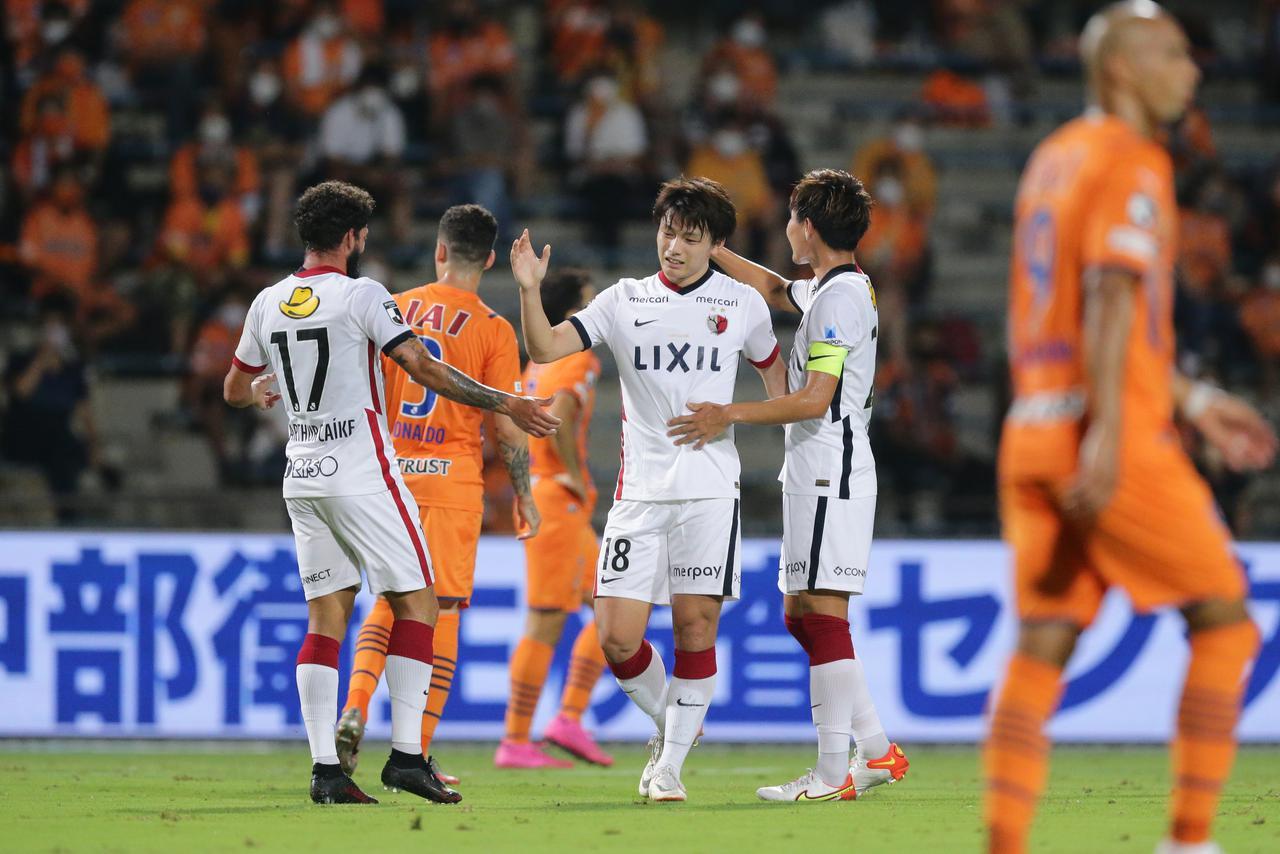 画像: 五輪を終え、リーグ再開後、初ゴールを挙げた鹿島の上田綺世