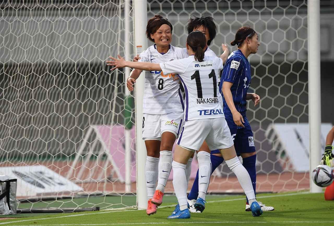 画像: チームの2点目を記録したS広島Rの増矢理花
