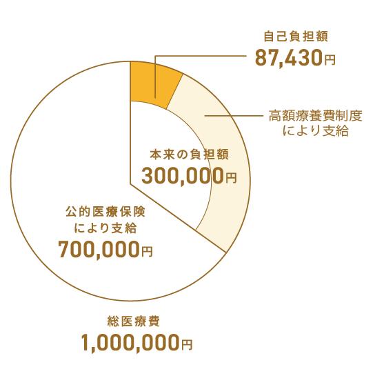 画像: 総額が100万円でも、最終的なAさんの自己負担額は87,430円になる