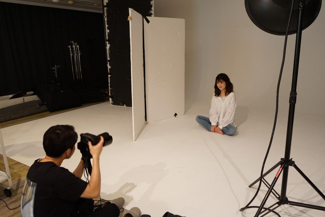 画像: 実際のモデル活動の様子