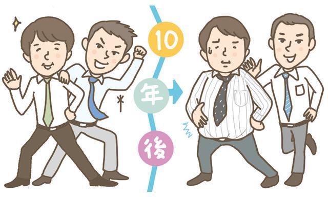 画像: タイムスリップ相談室#1 NO,ポッコリお腹!10年後の「だるま体型」を防ぐ2つの習慣 - マネコミ!