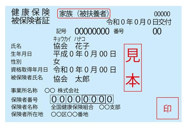 画像: 赤枠で示した部分が「家族(被扶養者)」になっている。
