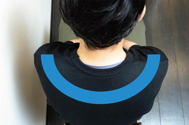 画像1: (2)イスに座って「巻き肩」チェック
