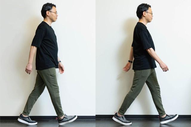 画像: (2)脚をまっすぐ前に出す「歩き方」