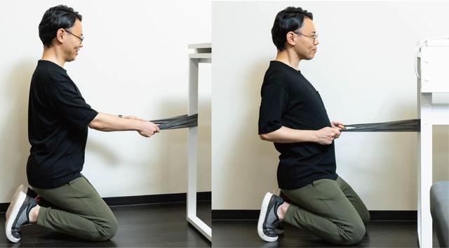 画像: (2)筋トレグッズ活用で背筋強化