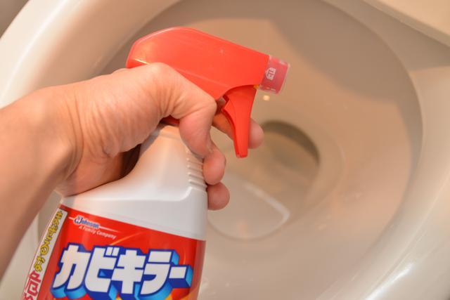 画像2: ②便器のふち裏掃除はカビクリーナーで代用できる