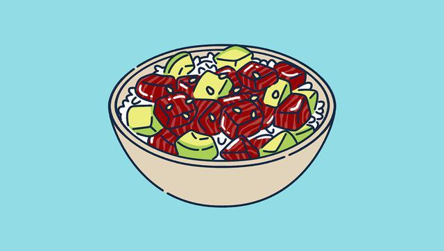 画像: 【特に女性におすすめ】マグロ&アボカドのユッケ丼