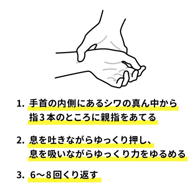画像2: (対処法3)マッサージ・ツボ押しを行う