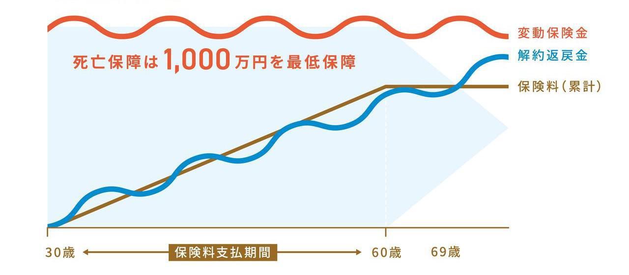 画像: ※死亡保障1000万円の場合