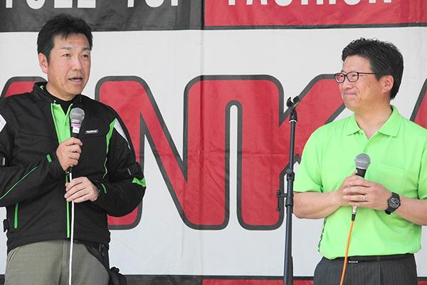 画像: みどり市の石原市長(左)と須藤群馬県議