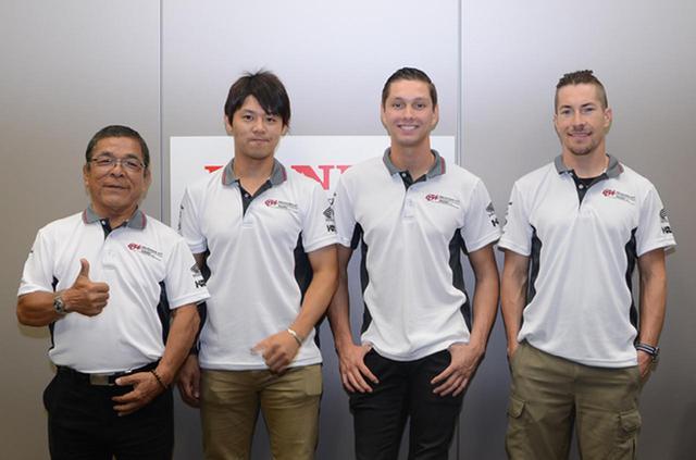 画像: 左より「ムサシRTハルクプロ」の本田重樹監督、高橋巧選手、M・ファン・デル・マーク選手、N・ヘイデン選手