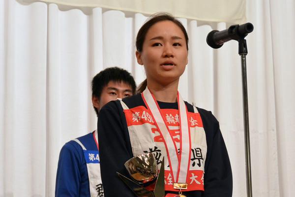 画像: 女性クラス優勝の石井マリエ選手(滋賀)