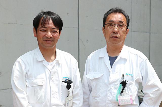 画像: 今回のカブシリーズの整備にあたったホンダテクノフォートの橋本氏㊨と亀田氏