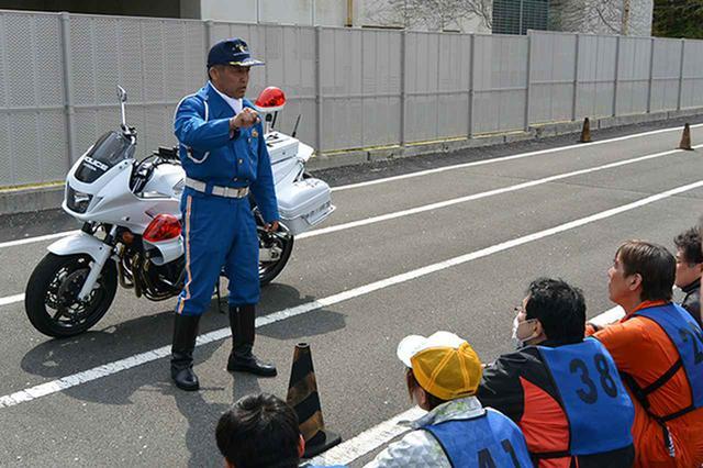 画像: 神奈川会場 白バイ隊員の安全講話
