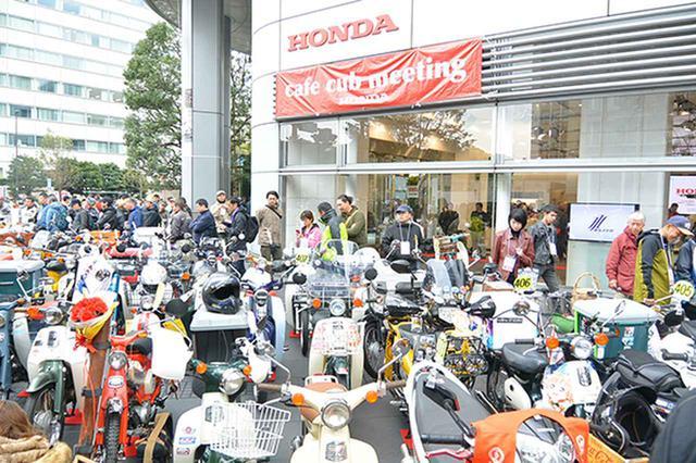 画像: カフェカブミーティングin青山の会場となった東京・青山のホンダ本社ビルには2日間で600台以上の個性あふれるカブがエントリー展示された
