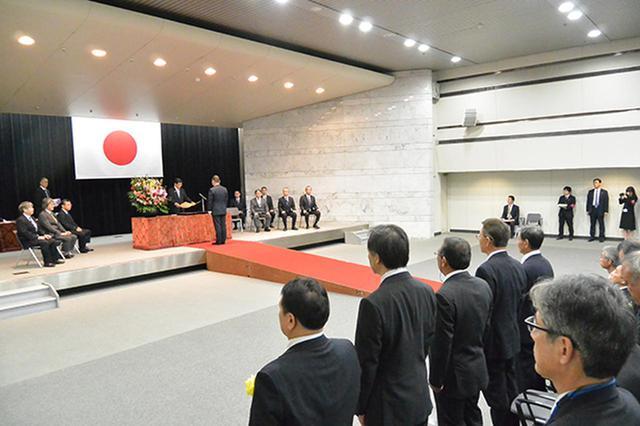 画像: 昨年10月25日に国交省内で開催された国土交通大臣表彰 会場風景