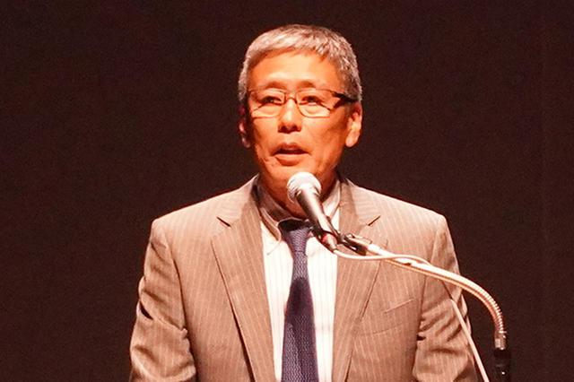 画像: 開会あいさつする石川社長