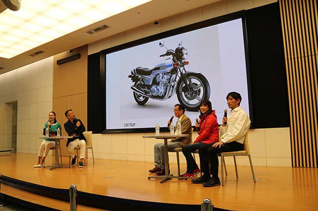 画像: 宮城光氏(左より2人目)の司会のもと、CBにまつわる熱いトークが展開された6月16日開催の「CBスペシャルトークショー」。右よりゲストの坂本順一氏、梅本まどかさん、原富治雄氏