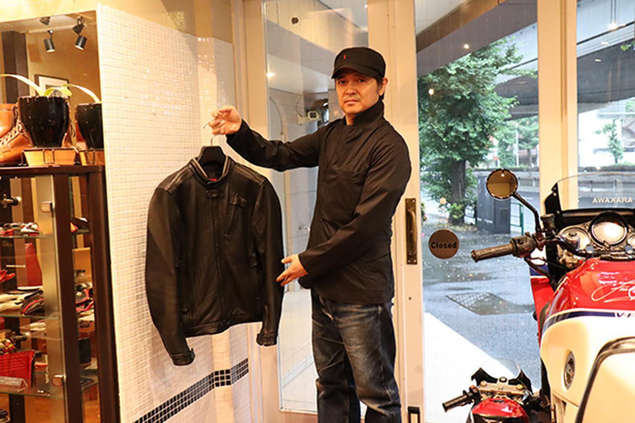 画像: 荒川氏が掲げる製品以外にレザージャケットは5型を展開