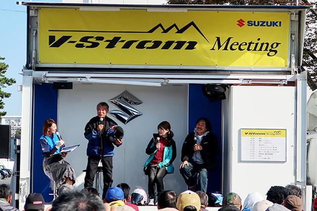 画像: 賀曽利さん(左から2人目)は「皆さん乗り続けてください」と呼びかけ