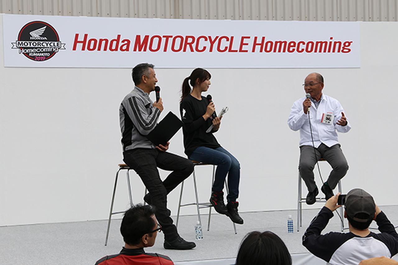 画像: ゲストに原国隆さん㊨を迎えたトークショー。MCは左より宮城光さん、大関さおりさん