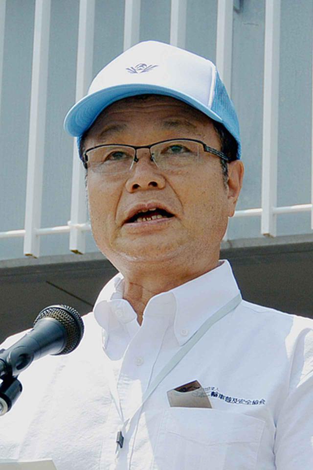 画像: 開会式冒頭であいさつする伊東日本二普協会長