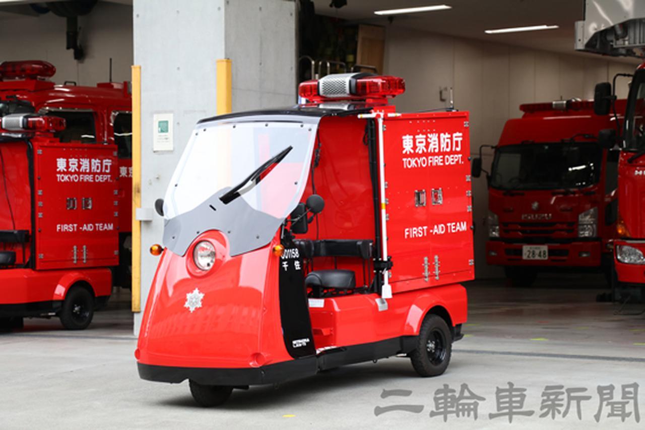 画像: 車体前面が乗員のスペースで、後方が資器材を収納する荷室スペースとなる