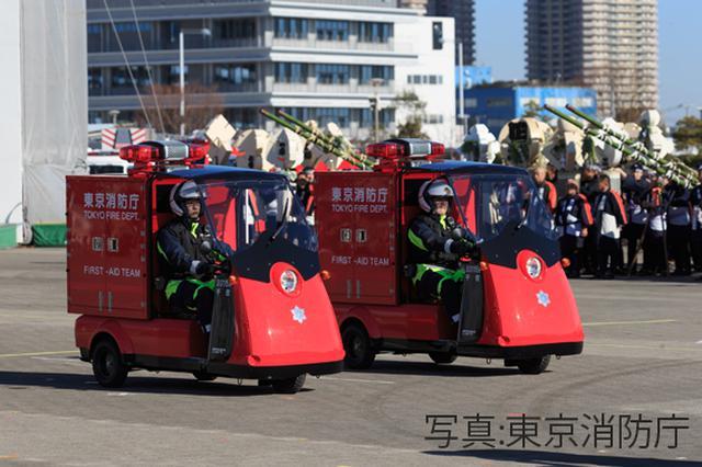 画像: 初お披露目となった2020年1月6日に開催された出初式での様子。写真提供:東京消防庁