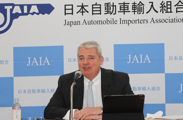 画像: 日本自動車輸入組合(JAIA)のティル・シェア理事長