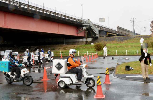 画像: デリバリー関係企業の乗務員代表らが日頃の安全運転技術を競った