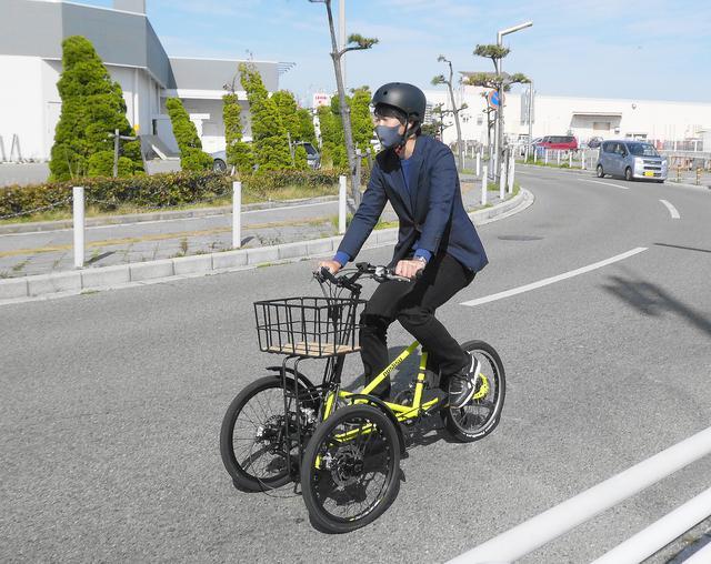 画像: 試乗風景(電動アシスト自転車仕様)