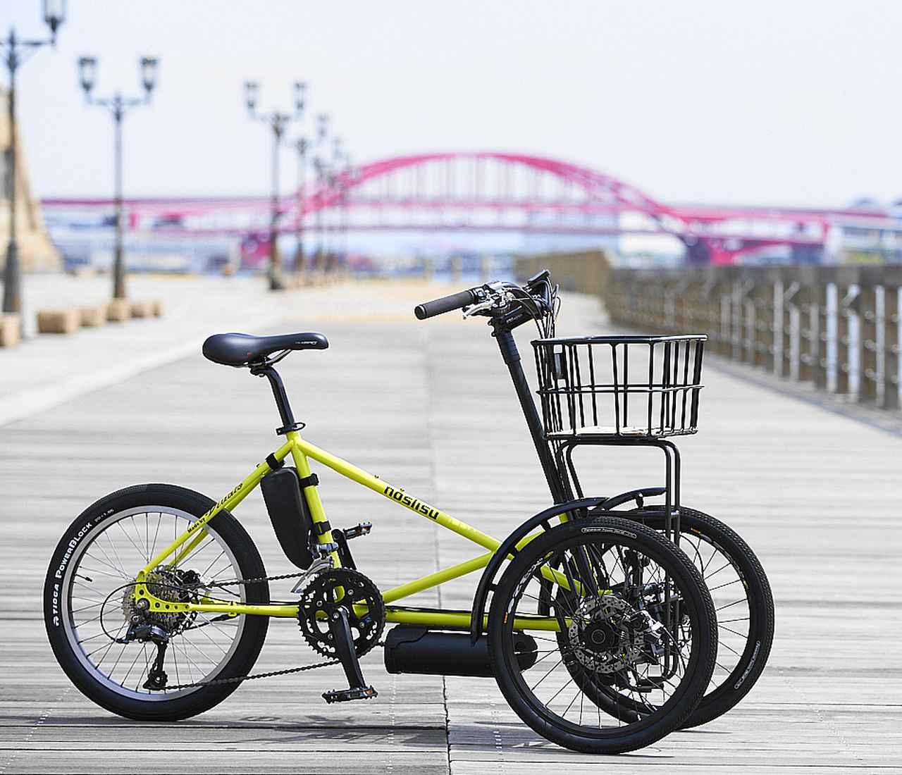 画像: 機能美に加え、洗練されたスタイリングが街にも映える(画像は電動アシスト自転車タイプ)