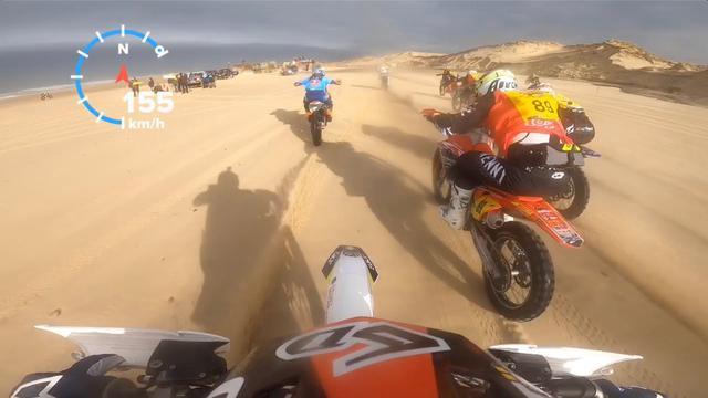 画像: 168 km/h sur la plage de Grayan [Motocross] youtu.be