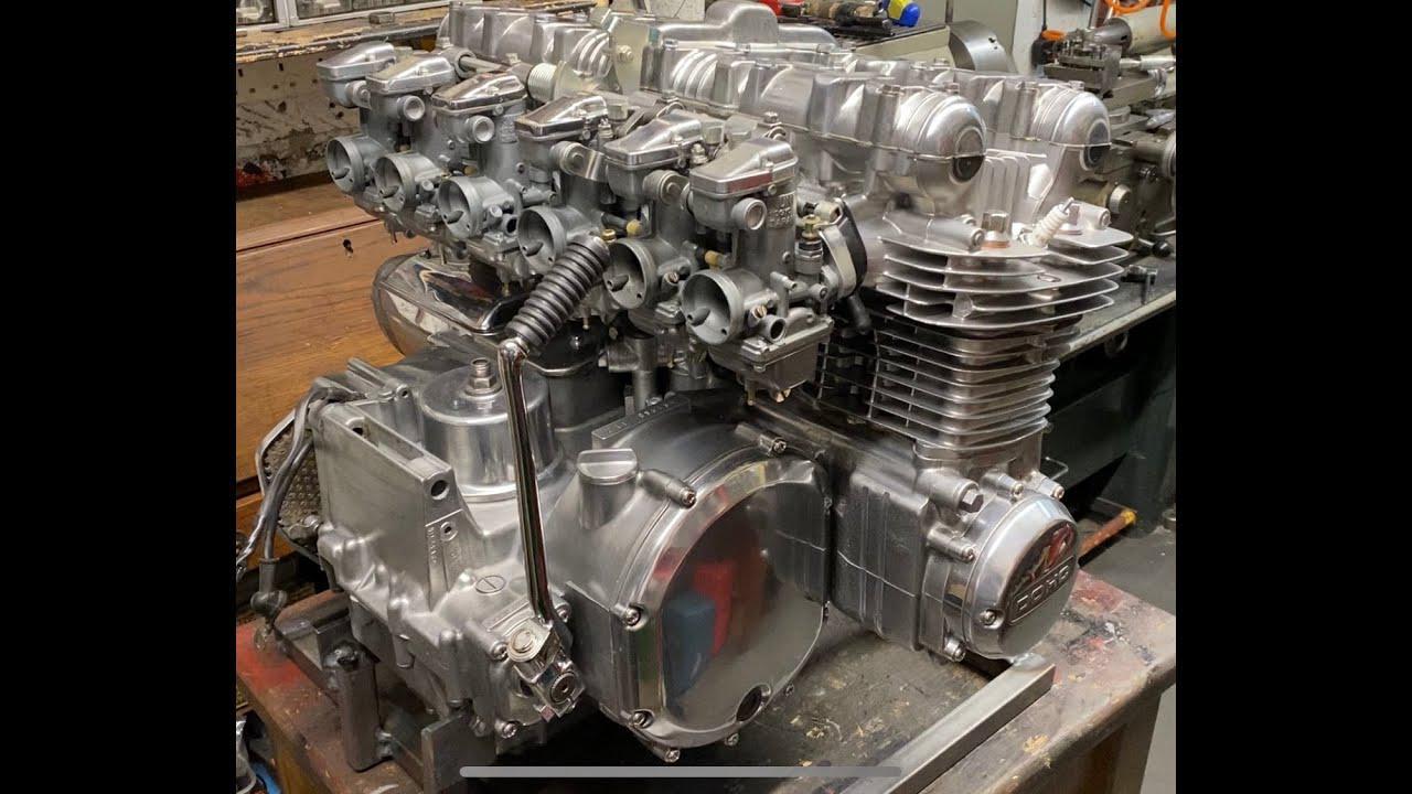 画像: Kawasaki Z1- 1396cc Super Six engine first start www.youtube.com