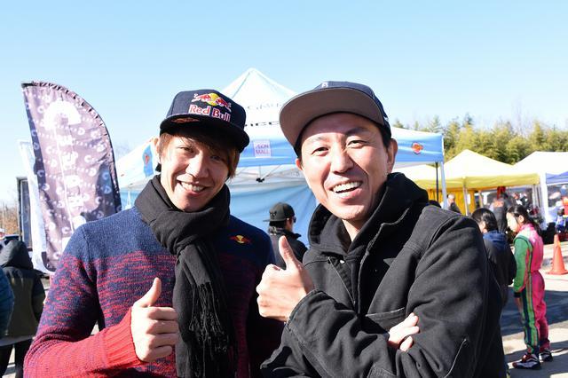 画像: 1月の「秋ヶ瀬モーターフェスティバル」に参加した長島と福ちゃん。