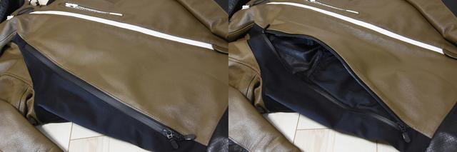 画像: 脇ファスナーは上半分がエアインテーク、下半分がポケット これ1本でつながってます