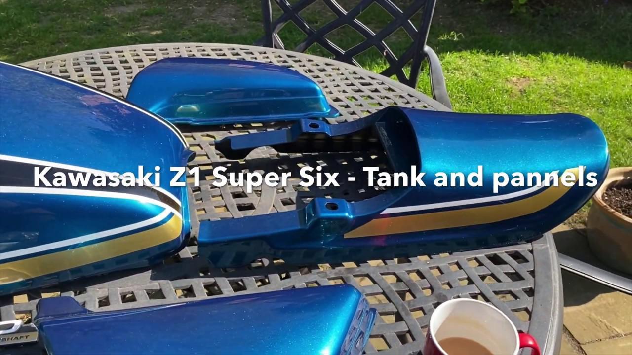 画像: Kawasaki Z1 Super Six - Tank and Panels www.youtube.com