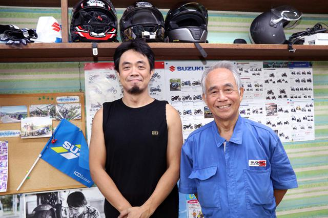 画像: ヤングオート店長の五十嵐雅哉さん(左)と、父親で同店代表の忠雄さん