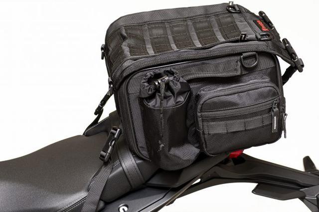 画像6: 20リットル前後のシートバッグがあれば泊まりのツーリングもできる!