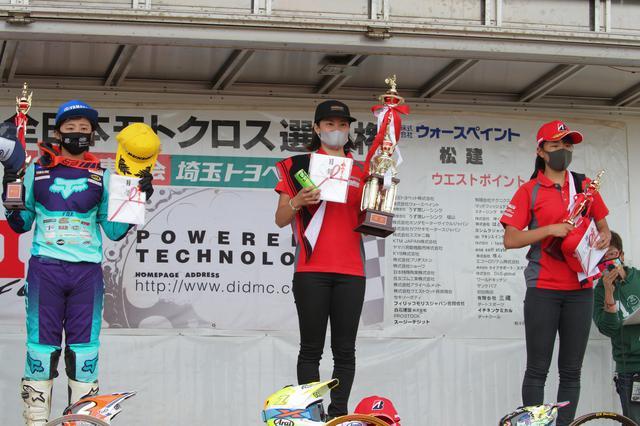画像: 左から総合2位の本田、優勝の川井、3位の小野 地元T.E.SPORTが1-3位フィニッシュでした